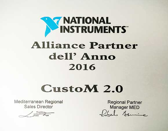 National Instrument allianz partner CustoM 2.0