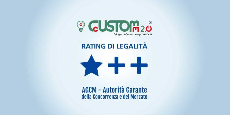 CustoM 2. 0 ottiene il rating-legalità