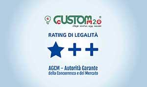 CustoM 2.0 ottiene il rating della legalità